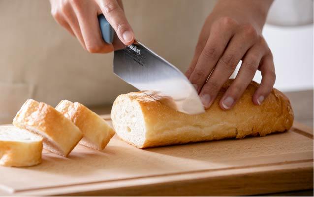 焼き立てのパンにも
